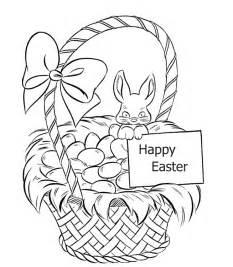 coloring page easter basket easter basket coloring pages free coloring pages