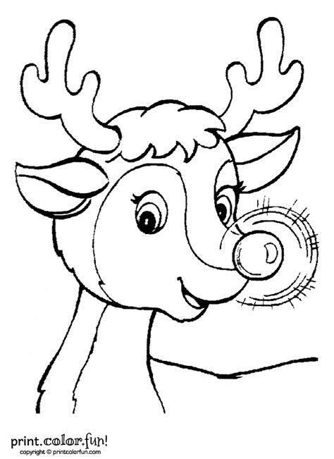 printable coloring pages rudolph the nosed reindeer rudolph template printable new calendar template site