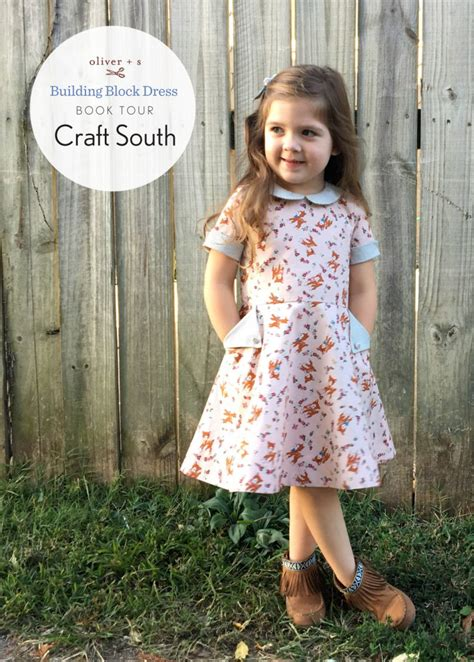 Sharrats Dressed Up Book Tour by Building Block Dress Book Tour Craft South