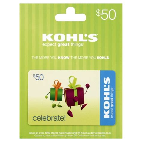 Khols Gift Card - 50 kohl s gift card