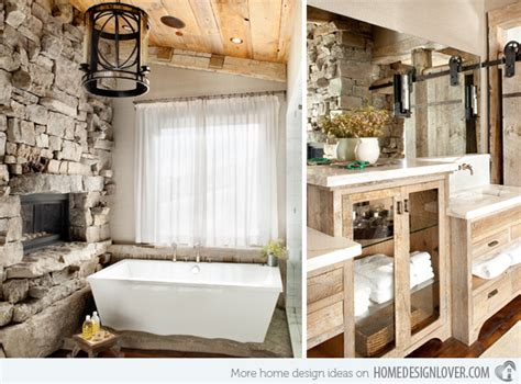 Small Bathroom Remodel Ideas Pinterest 15 bathroom designs of rustic elegance home design lover