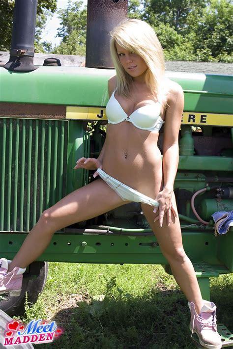 pin  girls  tractors