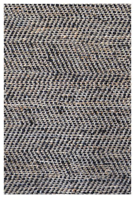 leather woven rug woven black leather jute rug 6 x 9 contemporary rugs by overstock