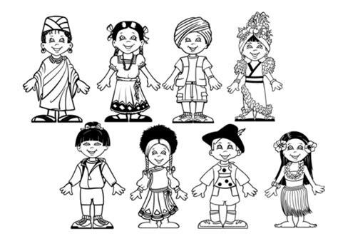 imagenes para colorear sobre la diversidad cultural dibujos para colorear del d 237 a del respeto a la diversidad
