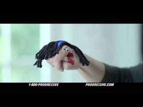 progressive commercial actress hand puppet nailed it youtube