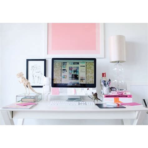 Computer Desk For Imac 27 Photography Decoration Pink Workspace Office Apple Imac Diy And Workspace Tips