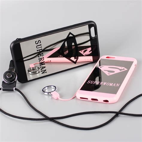 Termurah Superman Superwoman Mirror Soft For Iphone 6 6s popular iphone with neck buy cheap iphone with neck lots from china iphone