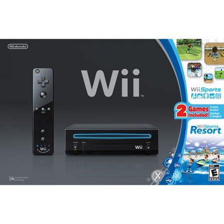 wii sport console wii console black w wii sports and wii sports resort