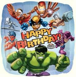 marvel hero squad happy birthday foil balloon this party