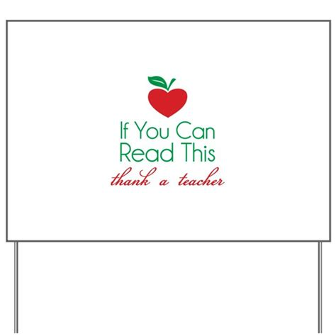 if you can read this thank a teacher yard sign by designalicious