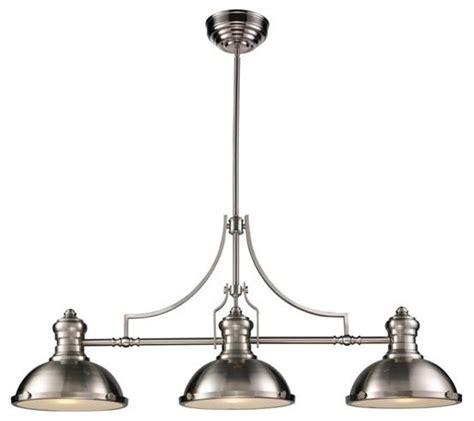 pool table pendant lights three light nickel pool table light modern pendant
