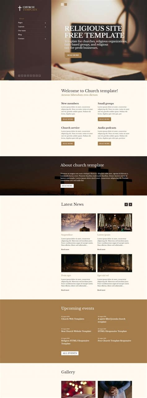 church religious free joomla 3 x template joomla