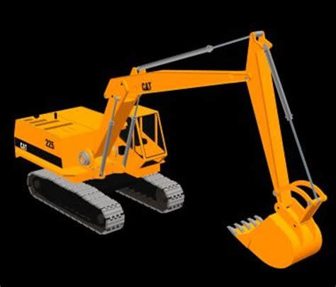imagenes de una retro escabadora retroexcavadora 3d en maquinaria obradores en planospara