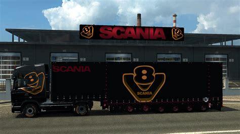 game modding euro truck simulator 1 scania special v8 pack v3 1 game 1 25 ets2 mods euro