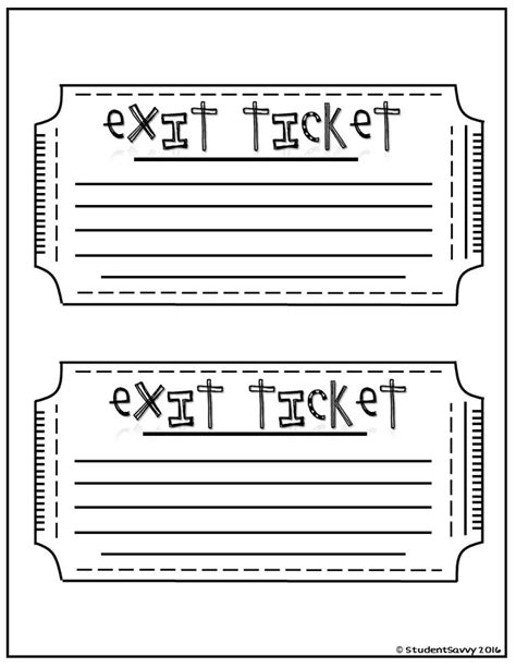printable exit tickets best 25 exit tickets ideas on pinterest exit slips
