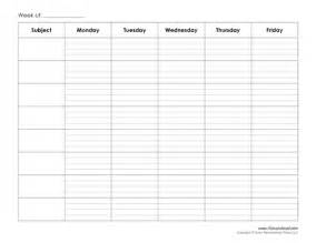 Blank Printable Weekly Schedule Template by Tim De Vall Comics Printables For