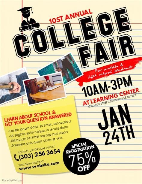 College Fair Flyer Template Postermywall College Flyer Template