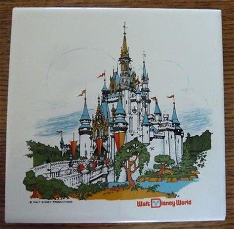 vintage cinderella s castle walt disney world ceramic tile