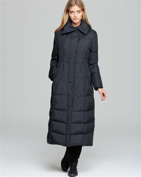 Pillow Collar Coats by Cole Haan Coat Pillow Collar Maxi Puffer Coat In Black Lyst