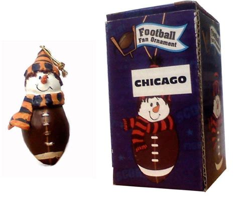 gifts for him sports fan chicago football fan ornament santa shop gifts buy in