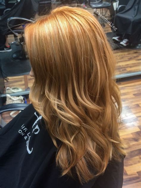 red heads with partial blonde highlights natural redhead copper highlights beach hair loose