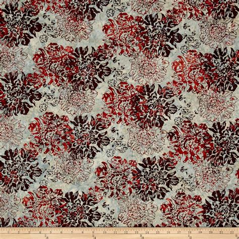 batik upholstery fabric bali batiks handpaints floral brick discount designer