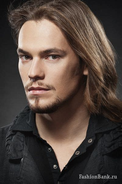 top long haired male models russian long haired male model sergey vesnin longhair