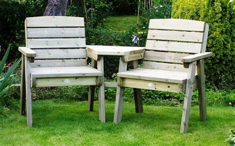 Garden Furniture Seats Dean Wooden Companion Seat Furniture Companion Seats