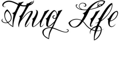 tattoo lettering font stencil 20 thug life tattoos designs and pictures golfian com