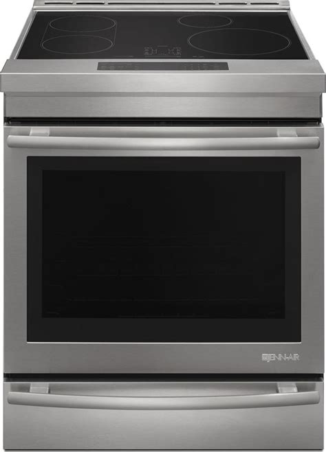 induction stove jenn air jis1450ds jenn air 30 quot slide in induction range stainless steel w style handle