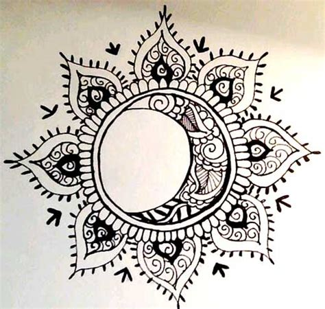 sun mandala tattoo sun and moon ideas