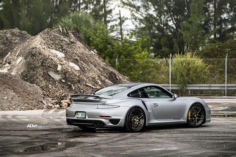 porsche silver silver porsche 911 turbo s adv05s m v2 cs centerlock wheels