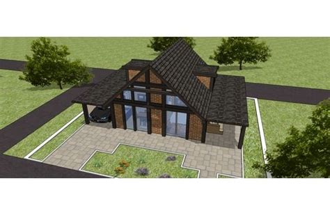 micro cottage with garage house plan 542 8 by lucia strona micro cottages