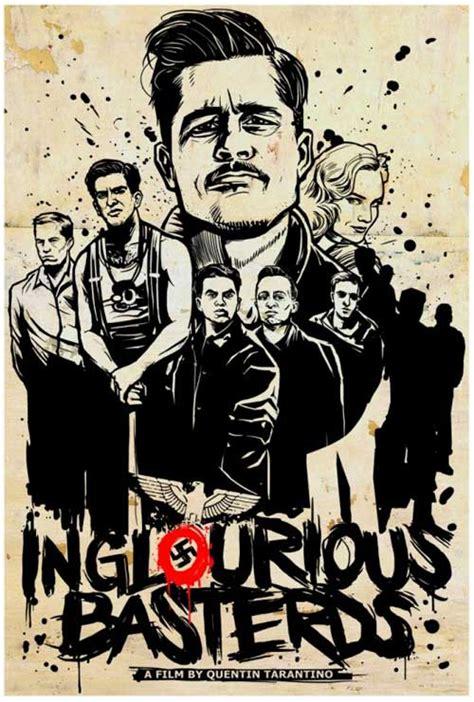 quentin tarantino film art 13 amazing inglourious basterds movie poster arts