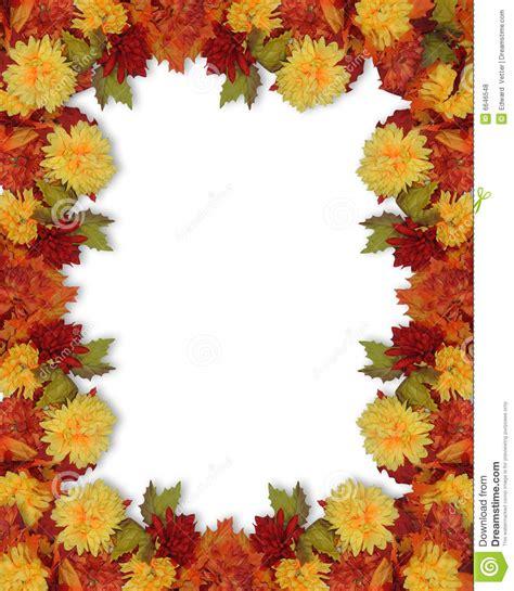 Fall Blatt Und Blumen Rand Lizenzfreie Stockfotos Bild