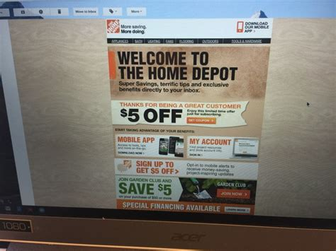 home depot coupon home depot coupon with
