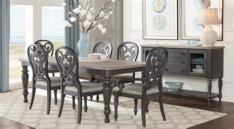 Cindy Crawford Home Coastal Breeze Charcoal 5 Pc Rectangle Rooms To Go Dining Table Sets