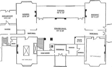 New Canaan Waveny House Floor Plan Floor Plans For Houses