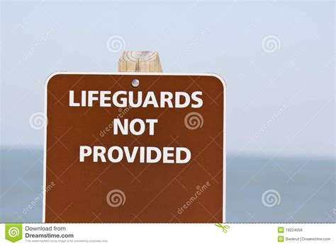 not provided lifeguards not provided sign royalty free stock photos image 19224058