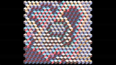 3d Patchwork - 3d patchwork tumbling block quilt installation