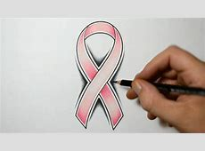 How to Draw a Cancer Ribbon - Tattoo Design Style - YouTube Easy Drawings Of Hearts With Ribbons