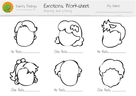 worksheets for preschoolers on emotions feeling faces coloring book worksheet coloring pages