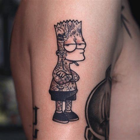 a of tatted up bart atbge