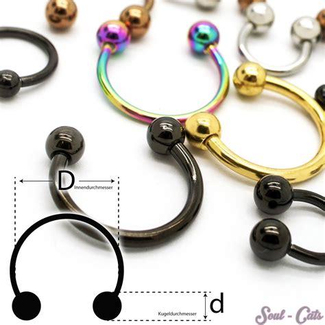 piercing orecchio interno 1 pezzo piercing anello aperto captive ferro di cavallo