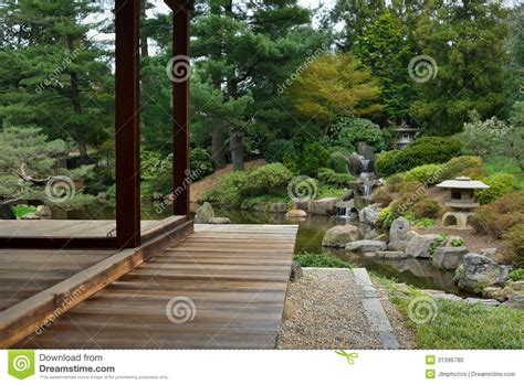 teak wood deck or porch stock photo image 31396780