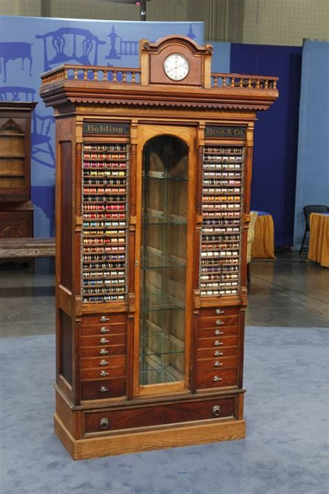 Belding Bros. & Co. Thread Spool Display Cabinet, ca. 1880