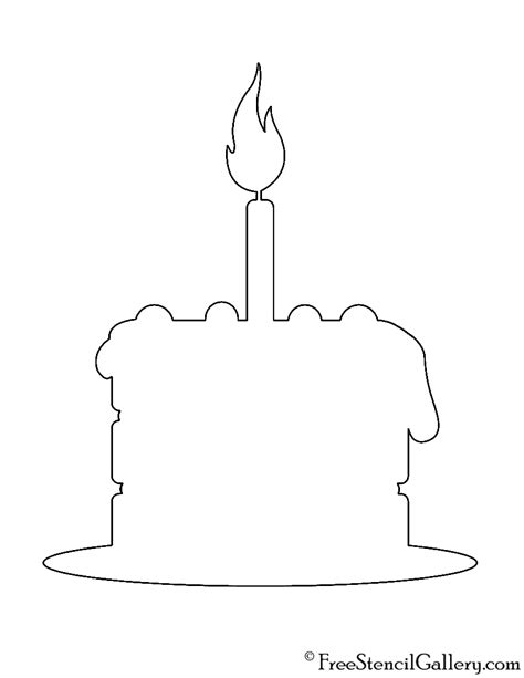 birthday cake templates birthday cake stencil free stencil gallery