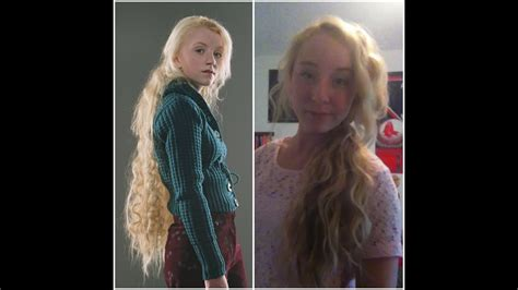 luna lovegood hair tutorial youtube