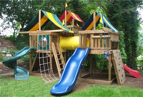 swing set tunnel wooden swing sets jungle fort cus tower