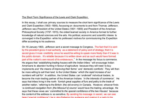 Lewis And Clark Expedition Essay by The Lewis And Clark Expedition Essay Help Filli Analysis Essay